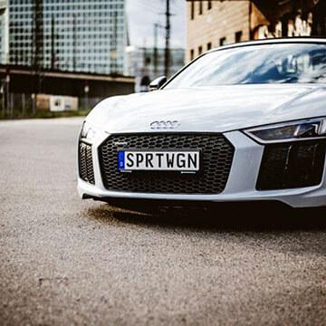 3D-Kennzeichen am Audi