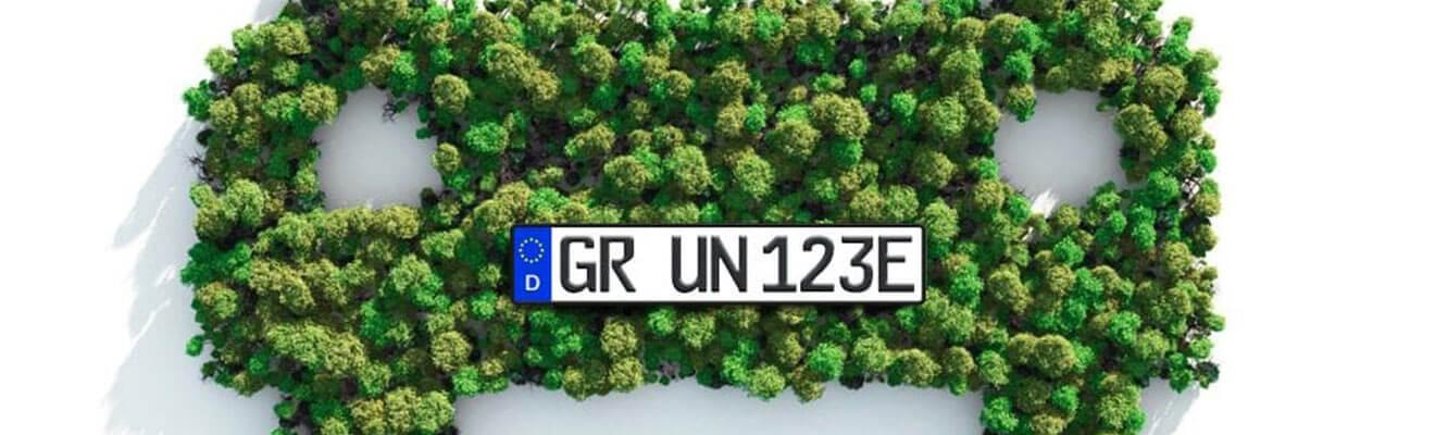 3D-Kennzeichen sind umweltfreundlicher