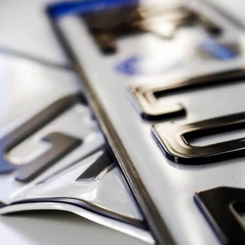Alu-Schild & 3D-Kennzeichen