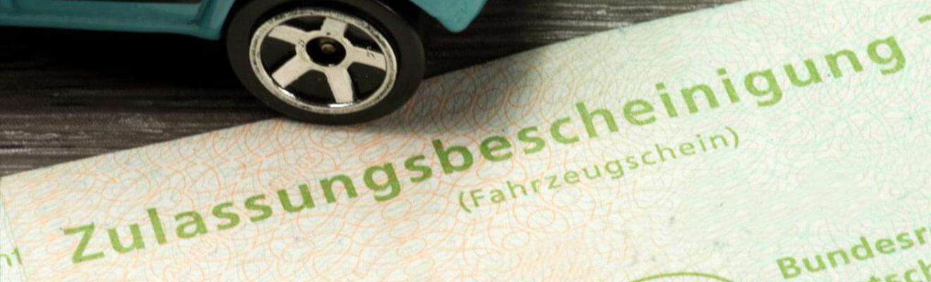 Kfz-Zulassung - Dokument