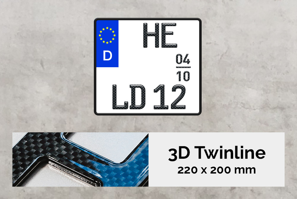 3D TWINLINE Saison in Carbon-Optik 220 x 200