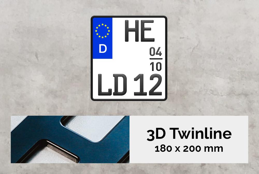 3D TWINLINE Saison in Schwarzmatt 180 x 200