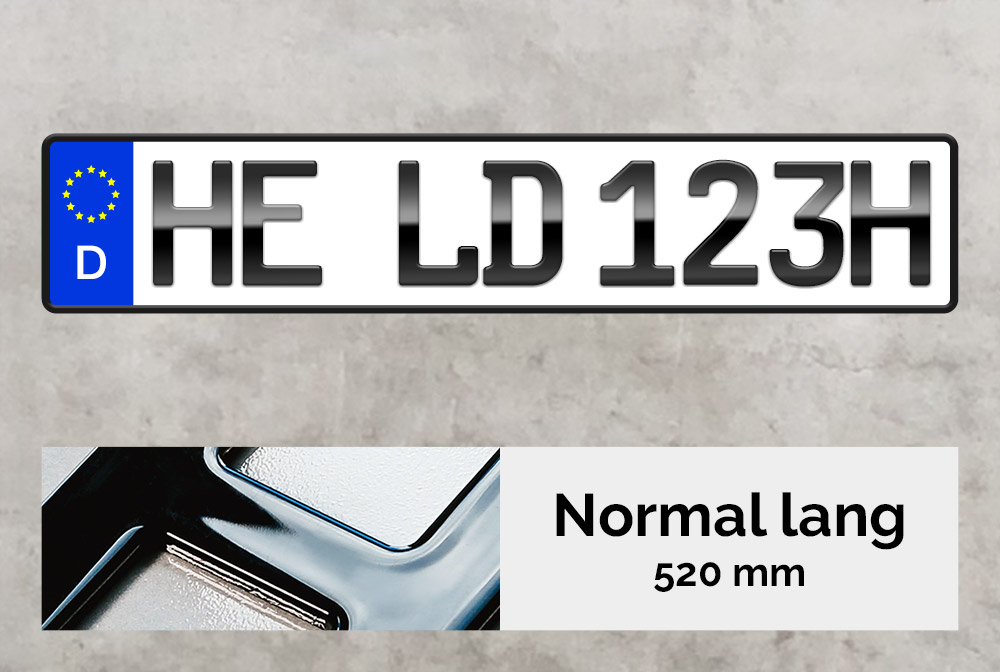3D H-Kennzeichen in Hochglanz