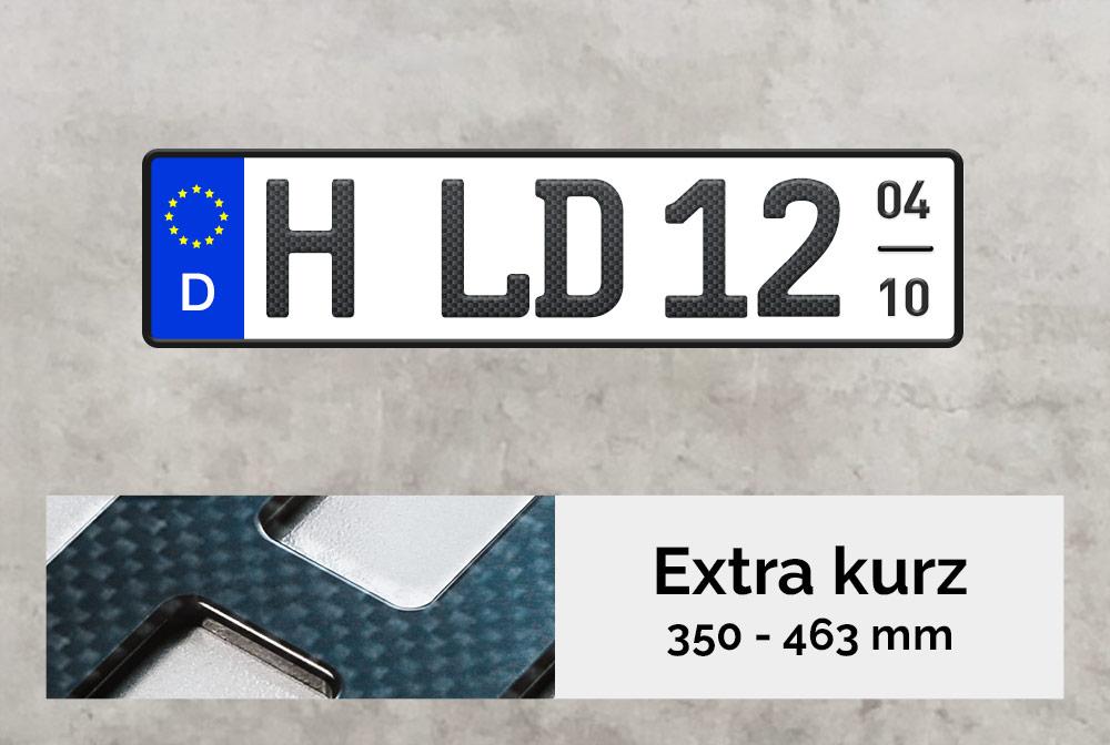 3D Saisonkennzeichen XS in Carbon-Matt
