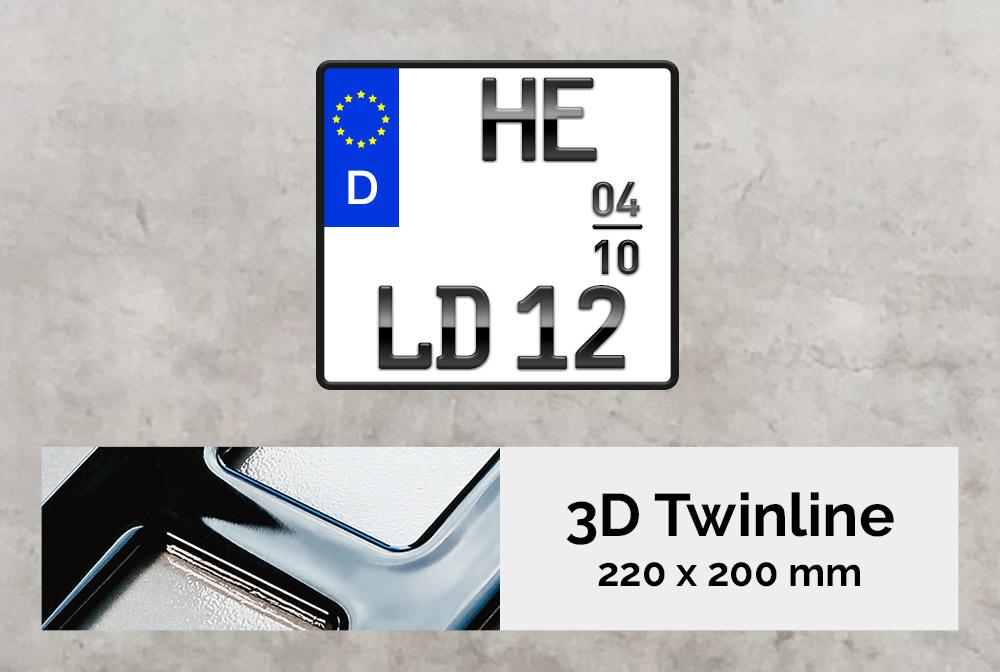 3D TWINLINE Saison in Hochglanz 220 x 200