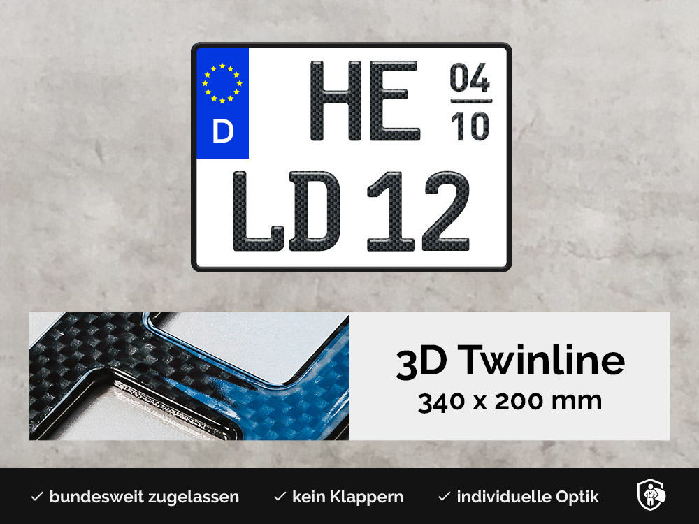 3D TWINLINE Saison in Carbon-Optik 340 x 200