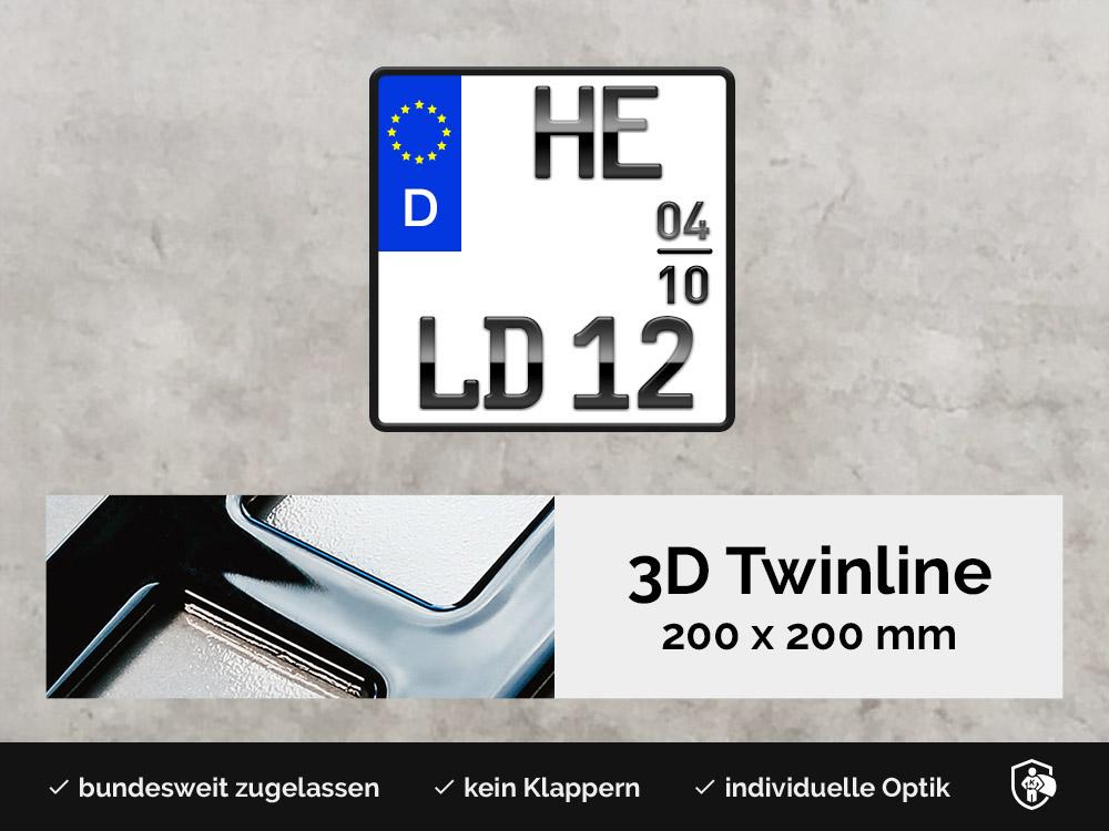 3D TWINLINE Saison in Hochglanz 200 x 200