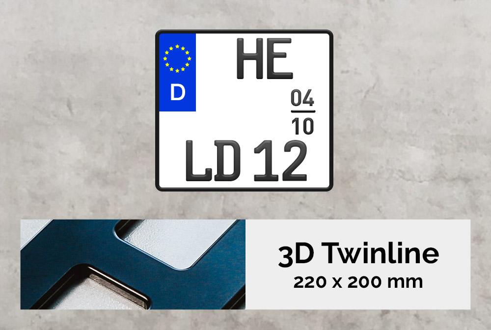 3D TWINLINE Saison in Schwarzmatt 220 x 200