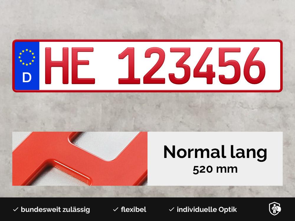 3D Händlerkennzeichen in Rot