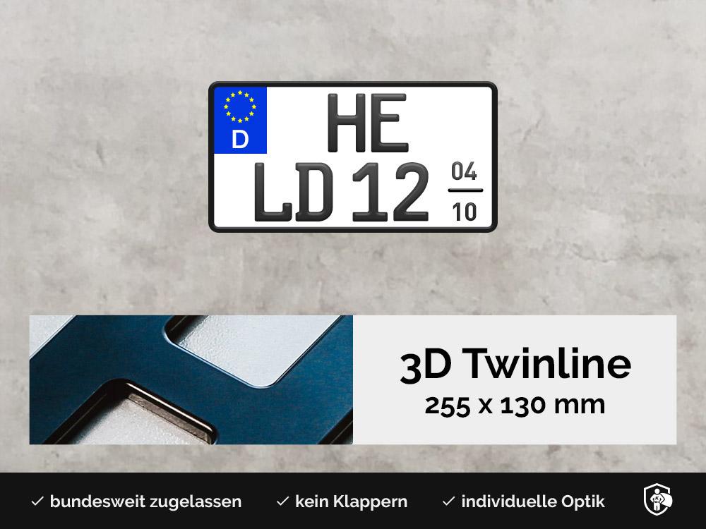 3D TWINLINE Saison in Schwarzmatt 255 x 130