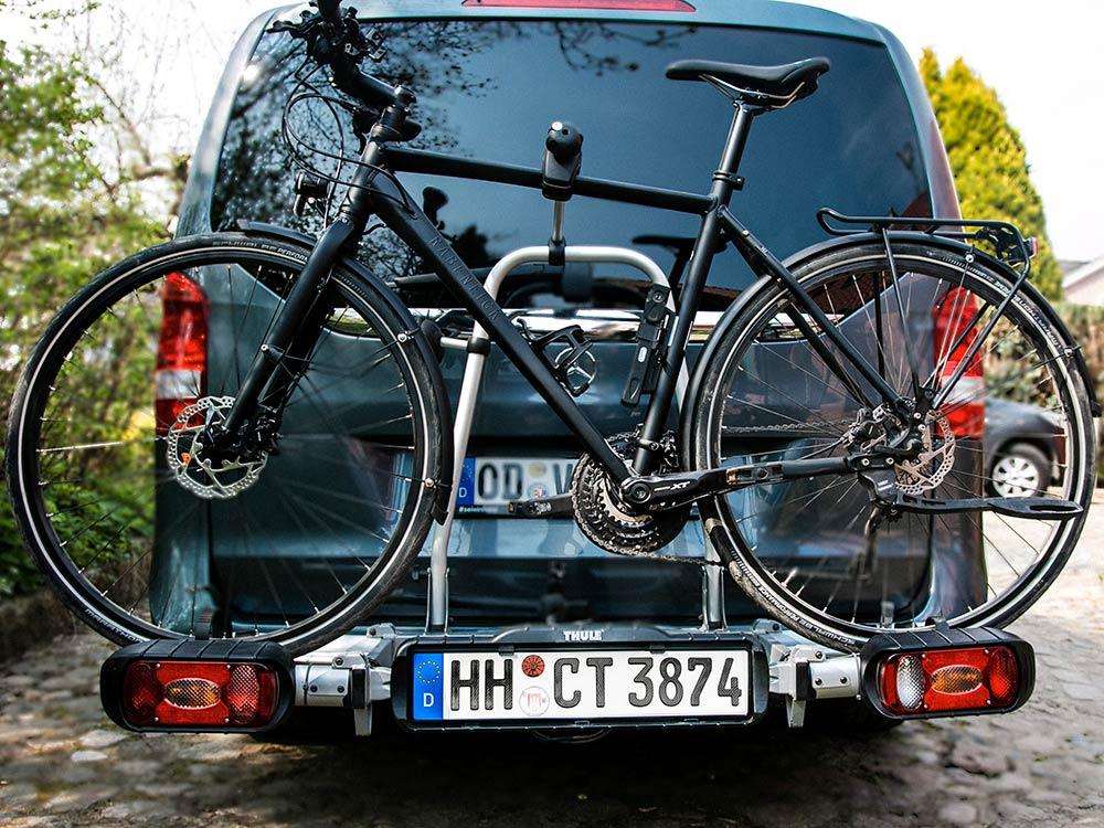 3D Fahrradträger-Kennzeichen in Carbon-Optik Glanz
