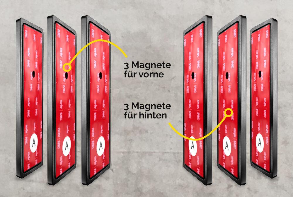 Magnetische Kennzeichenhalter für 3D Kennzeichen