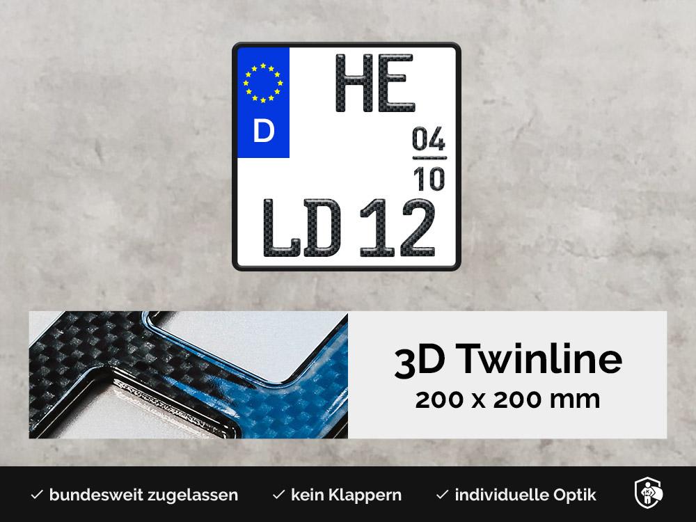 3D TWINLINE Saison in Carbon-Optik 200 x 200
