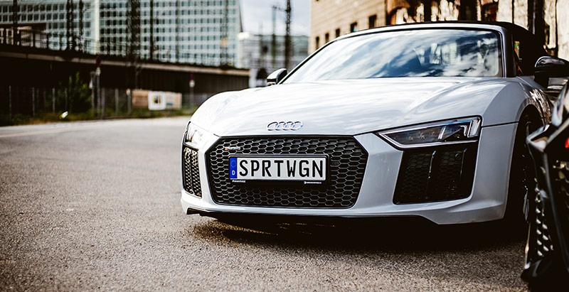 3D Namenskennzeichen an Audi R8