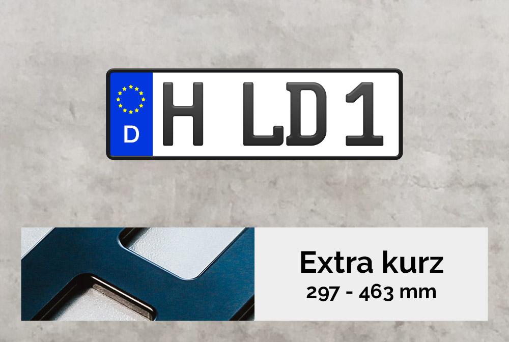 3D Kennzeichen XS in Schwarzmatt
