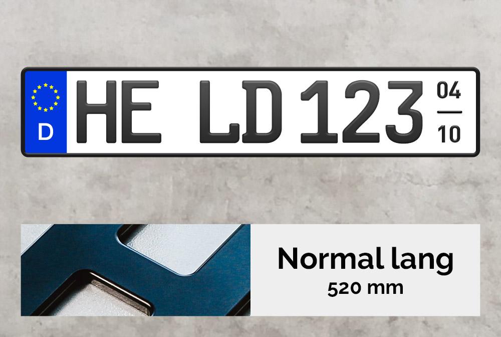 3D Saisonkennzeichen in Schwarzmatt