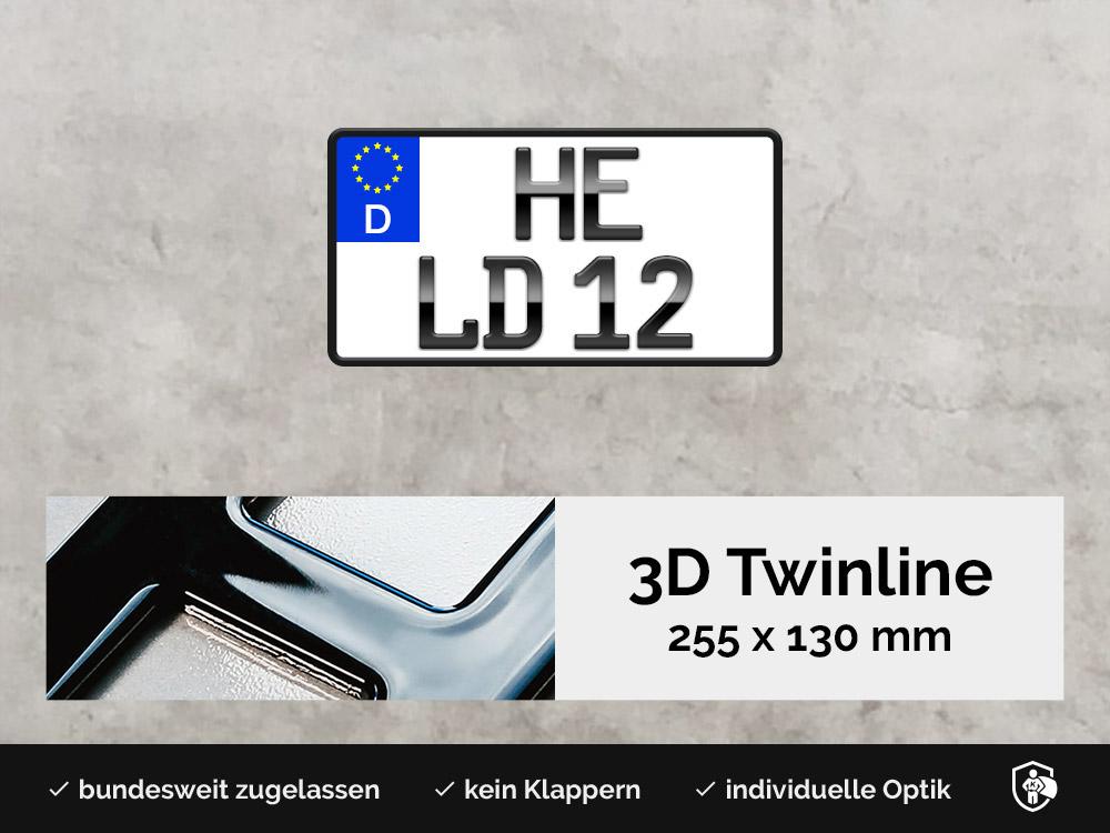 3D TWINLINE in Hochglanz 255 x 130