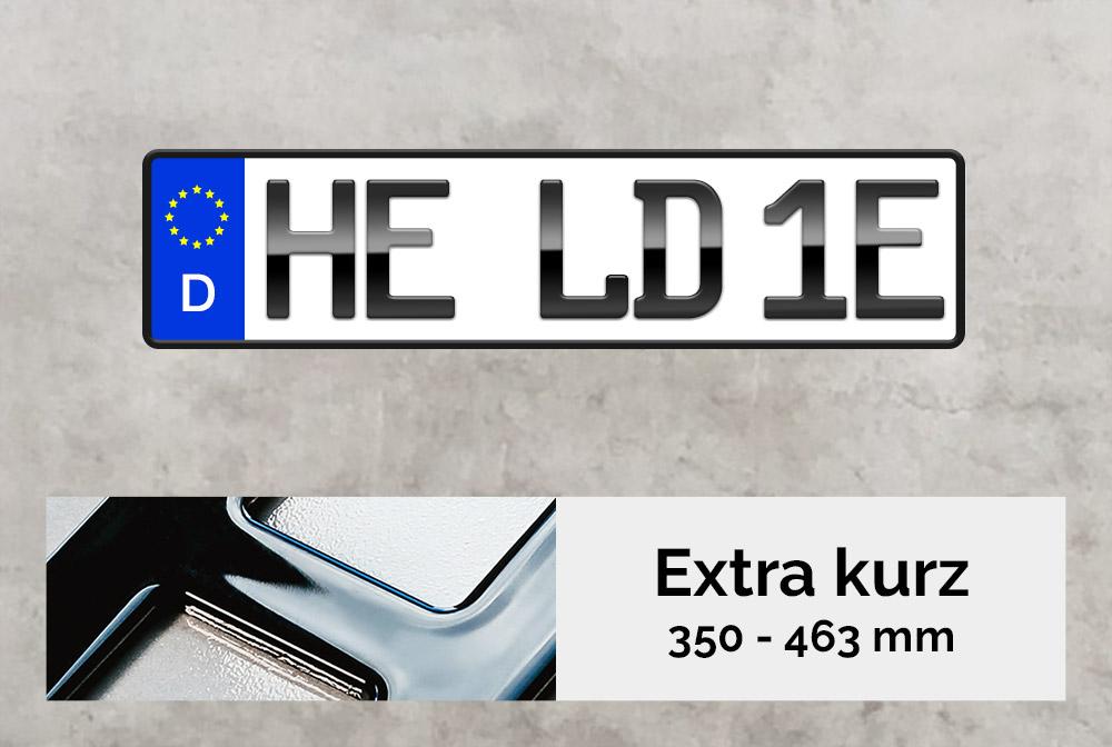 3D E-Kennzeichen XS in Hochglanz