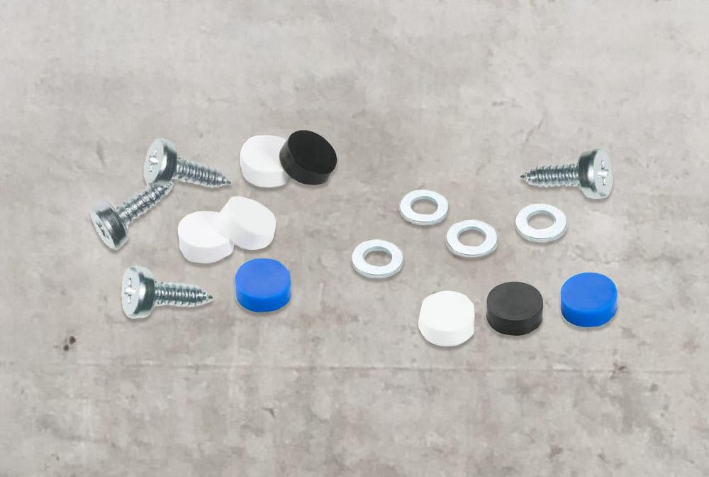 Kennzeichen Schrauben-Set