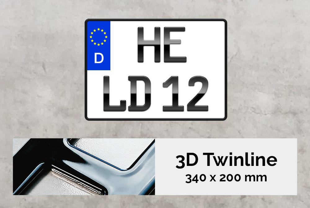 3D TWINLINE in Hochglanz 340 x 200