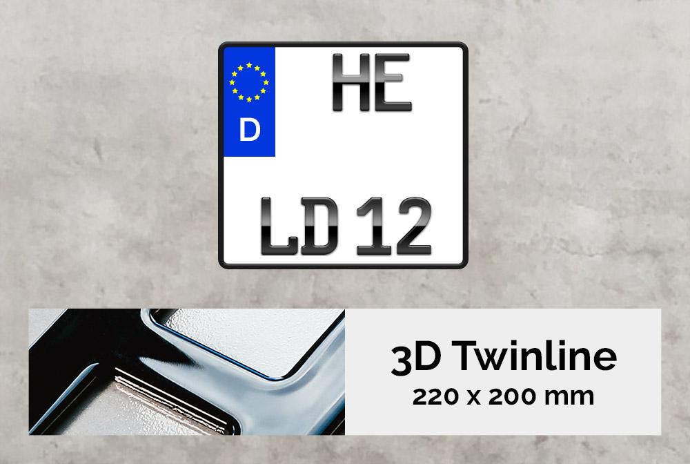 3D TWINLINE in Hochglanz  220 x 200