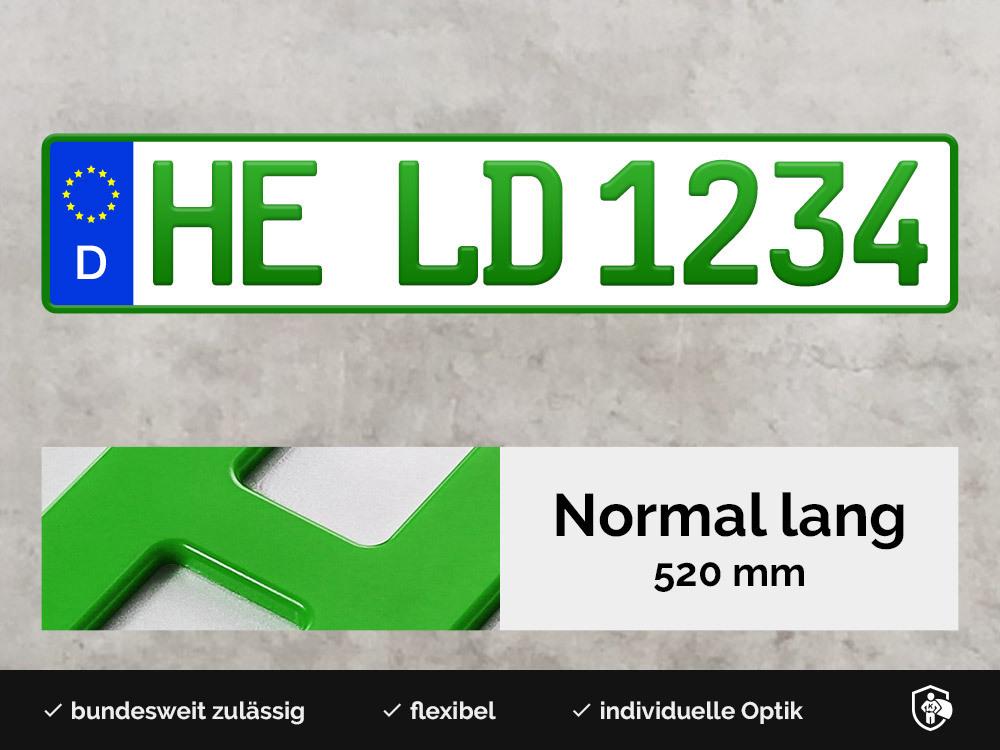 3D Kennzeichen in Grün