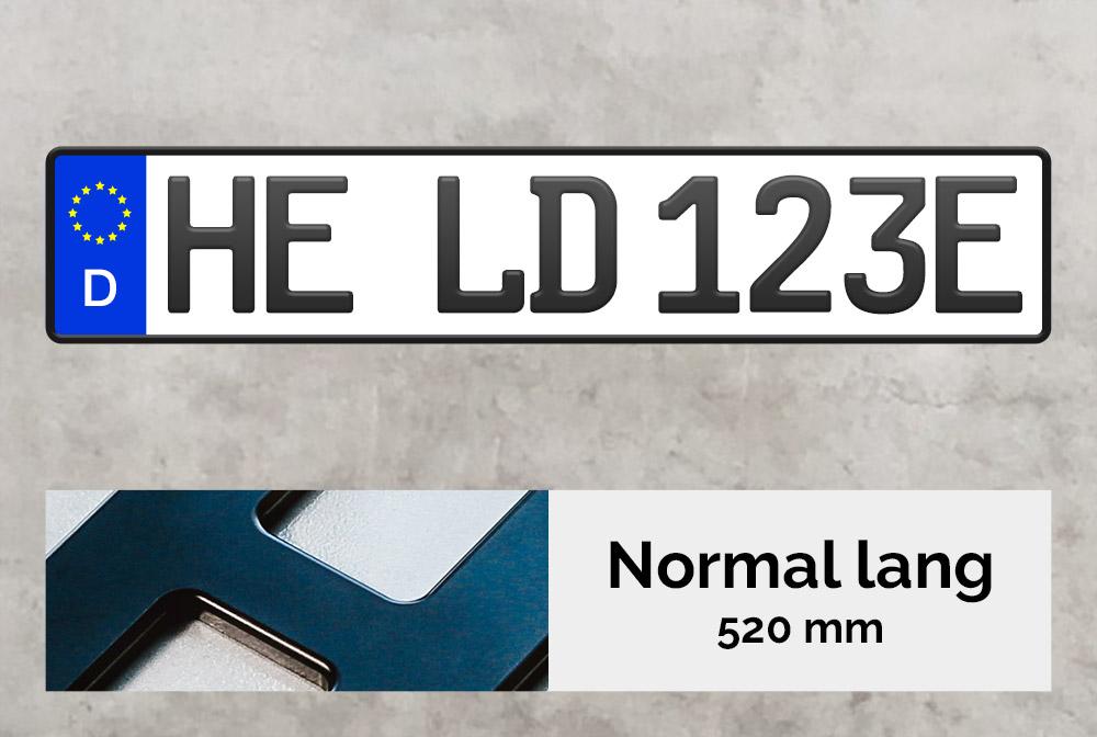 3D E-Kennzeichen in Schwarzmatt