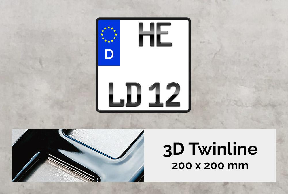 3D TWINLINE in Hochglanz 200 x 200