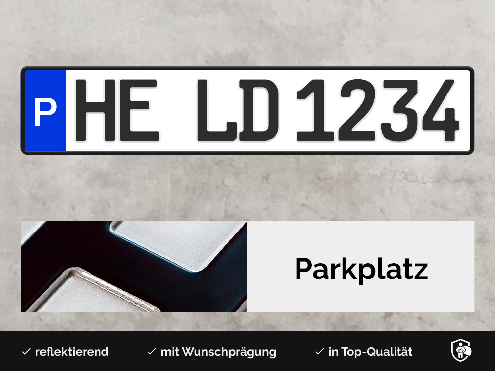 Alu Parkplatzschild
