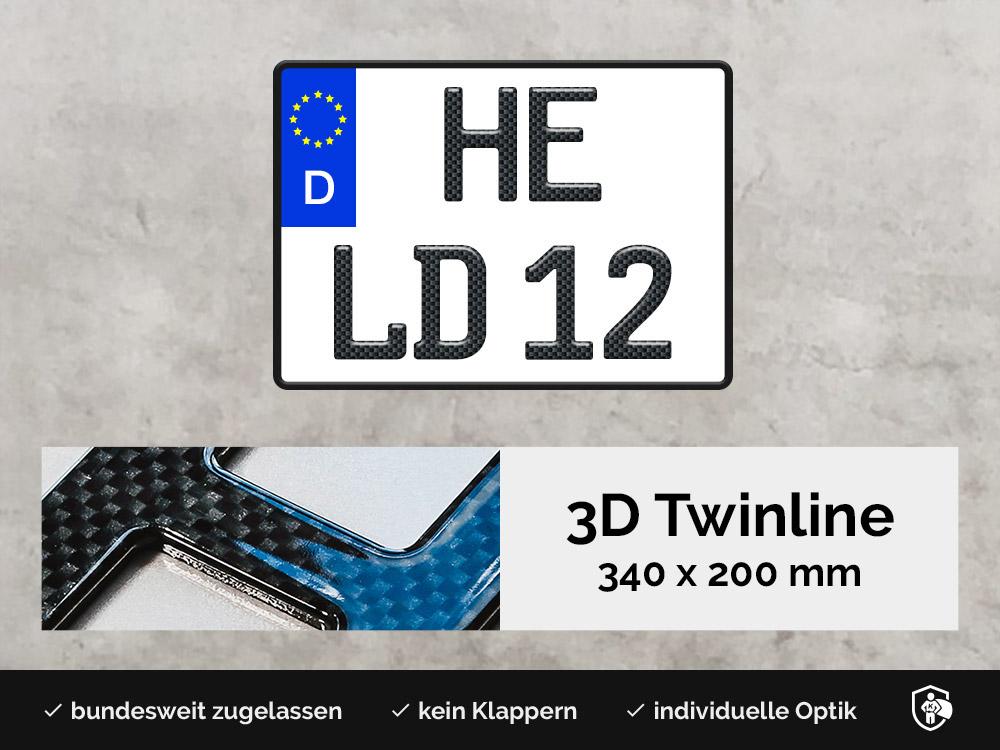 3D TWINLINE in Carbon-Optik 340 x 200