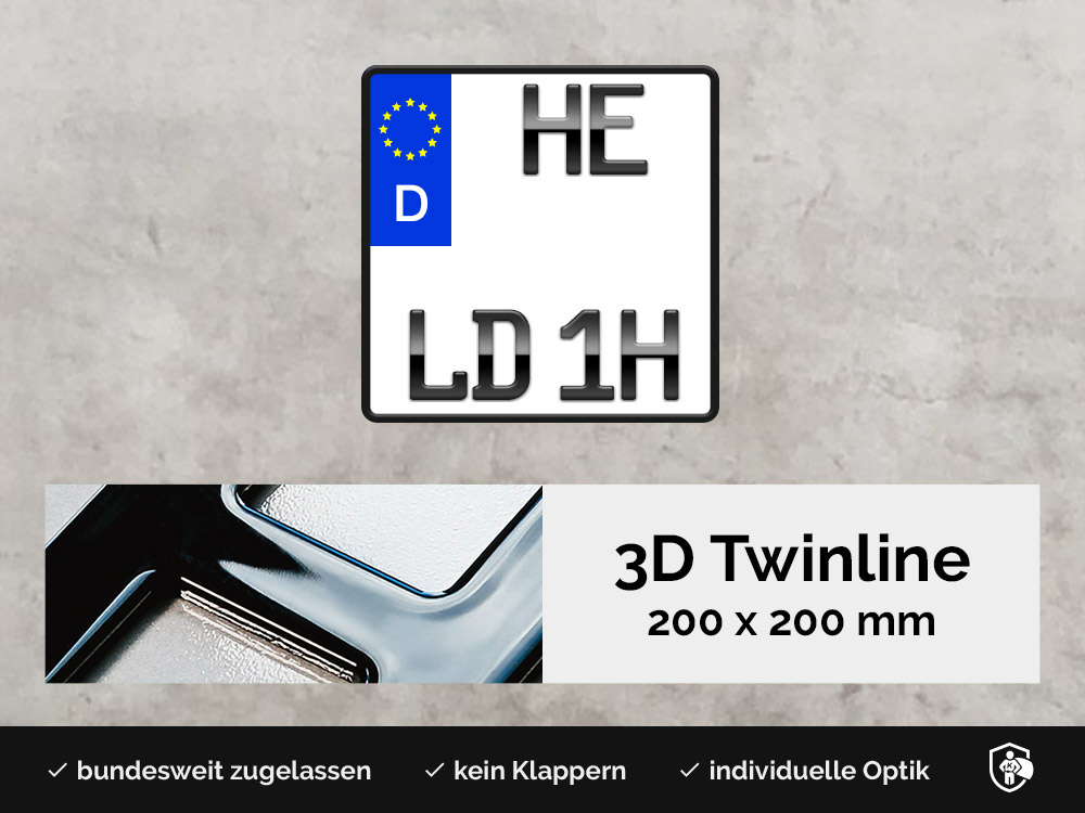 3D TWINLINE Historisch in Hochglanz 200 x 200