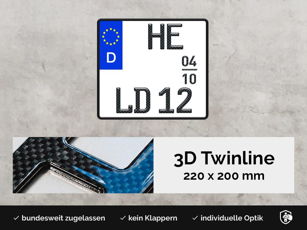 3D TWINLINE Saison in Carbon-Optik 220 x 200