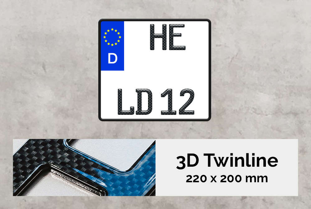 3D TWINLINE in Carbon-Optik 220 x 200