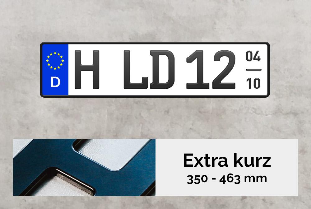 3D Saisonkennzeichen XS in Schwarzmatt