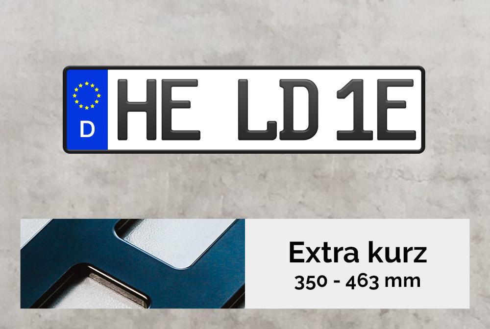 3D E-Kennzeichen XS in Schwarzmatt