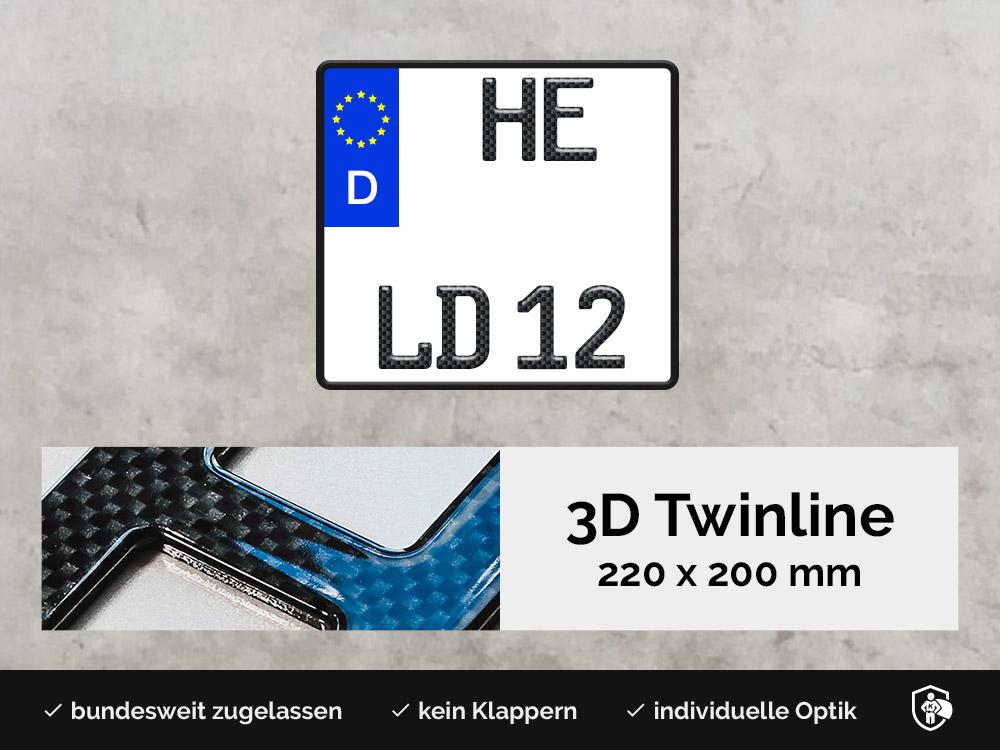 3D TWINLINE in Carbon-Optik 220 x 200