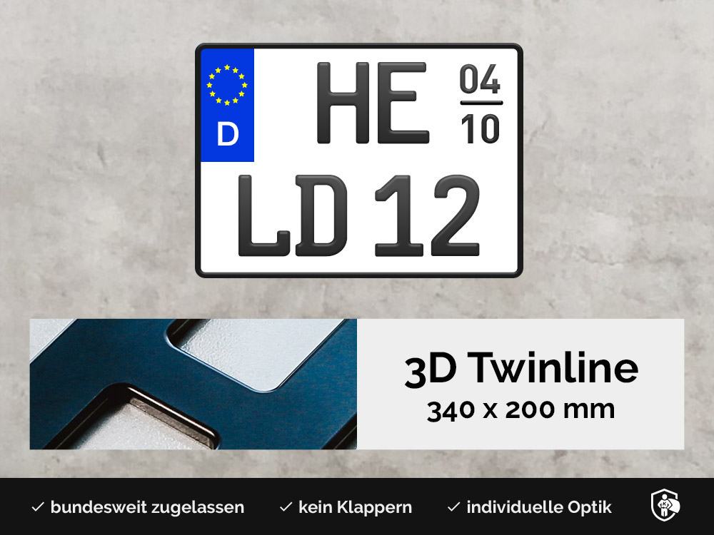 3D TWINLINE Saison in Schwarzmatt 340 x 200