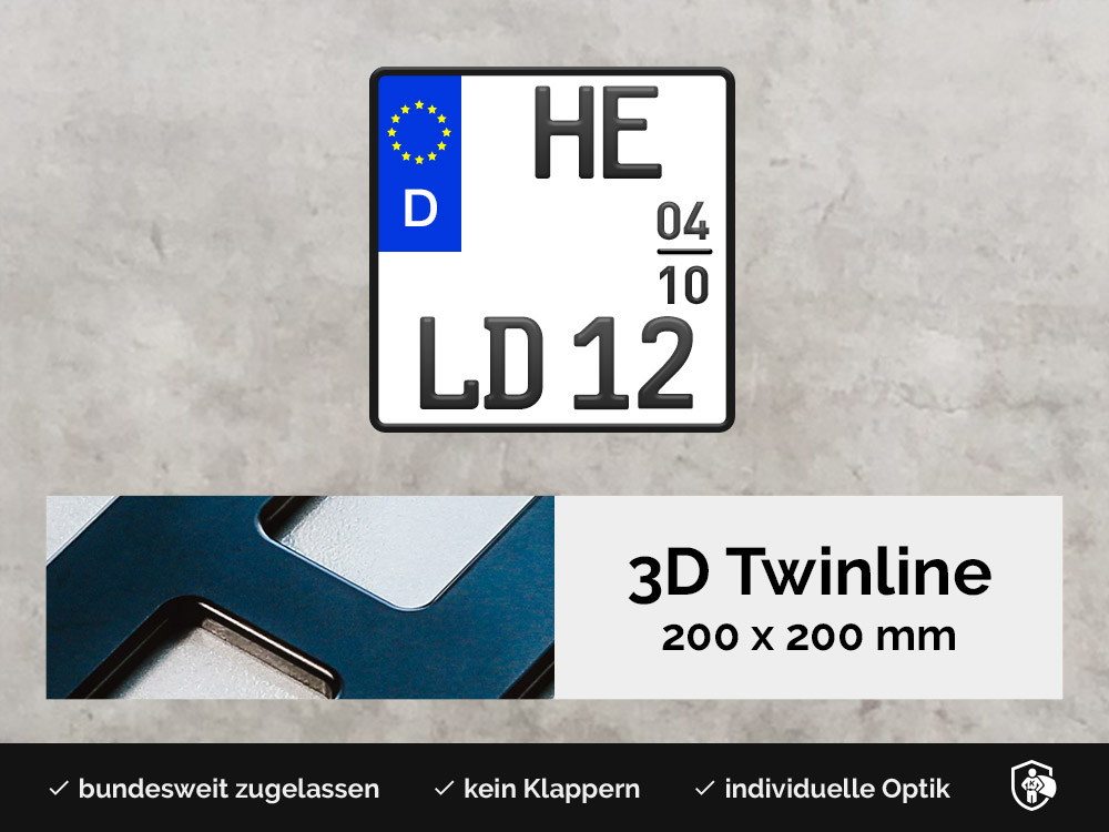 3D TWINLINE Saison in Schwarzmatt 200 x 200