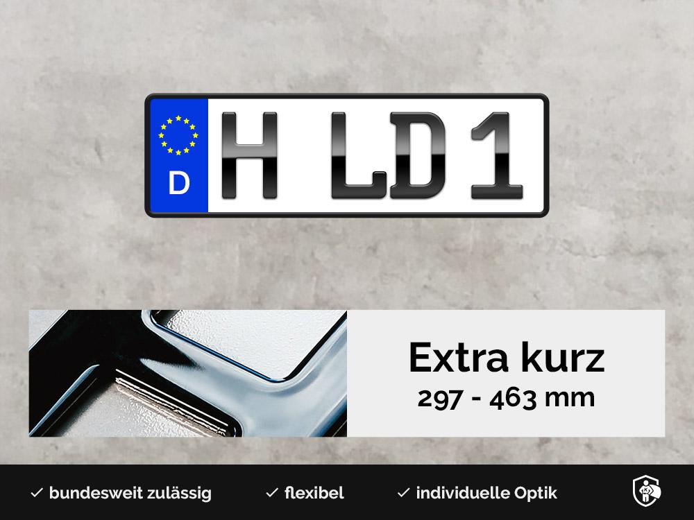 3D Kennzeichen XS in Hochglanz