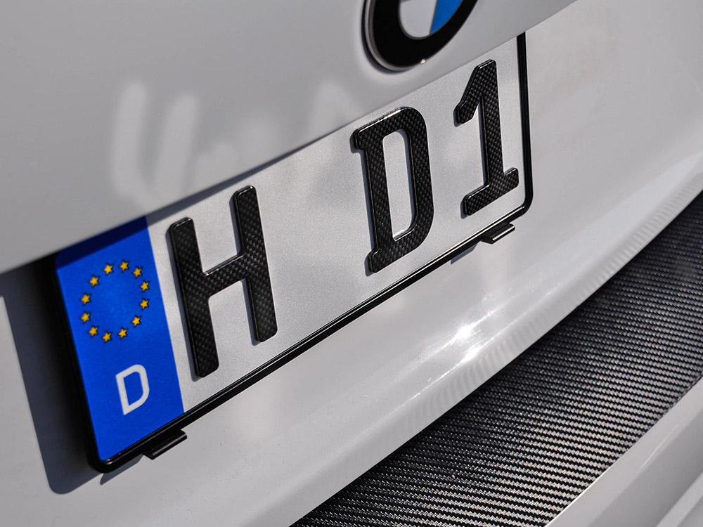 3D Kennzeichen XS in Carbon-Optik