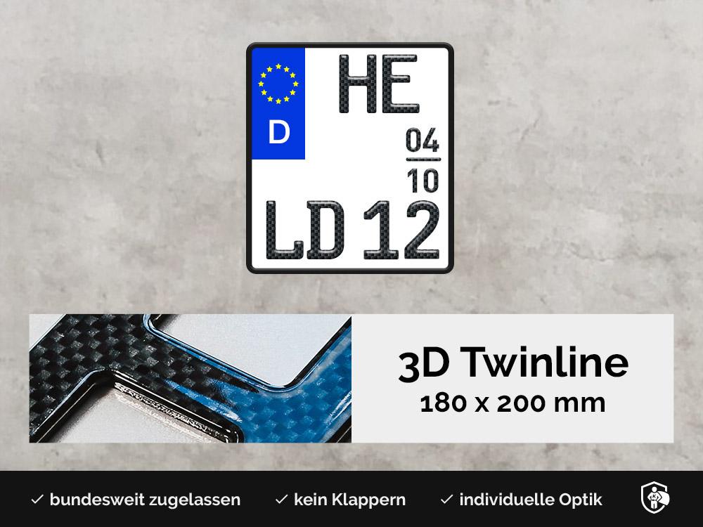 3D TWINLINE Saison in Carbon-Optik 180 x 200