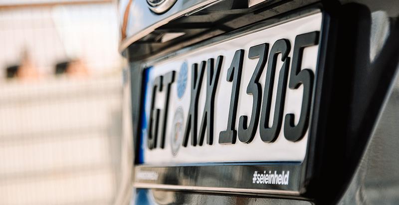 3D-Kennzeichen für Ford