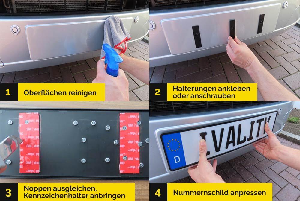 Magnetische Kennzeichenhalter für Alu-Kennzeichen