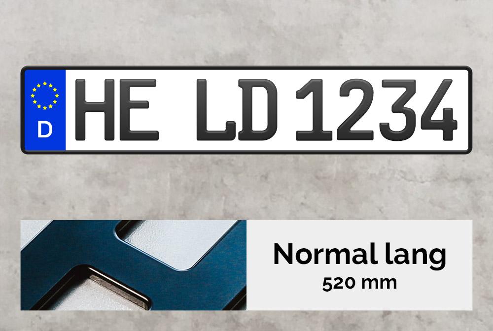 3D Kennzeichen in Schwarzmatt