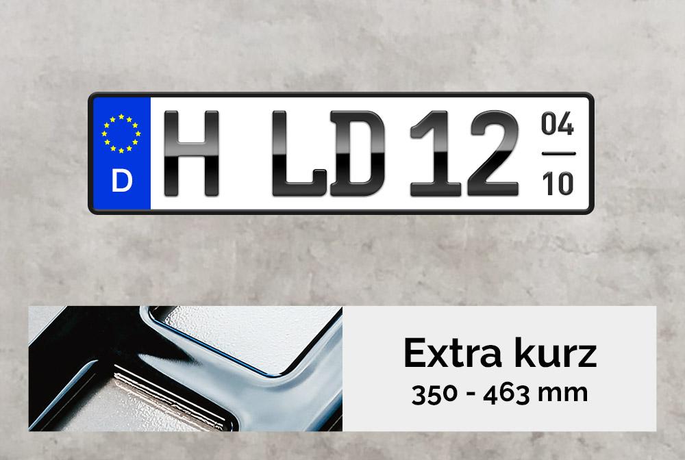 3D Saisonkennzeichen XS in Hochglanz