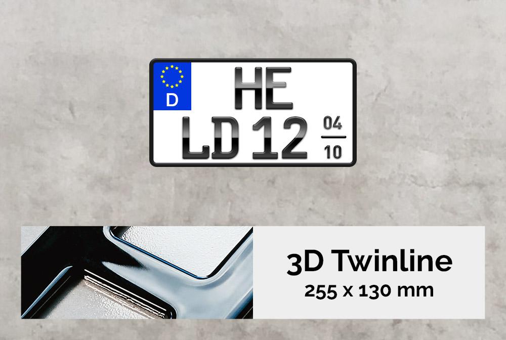 3D TWINLINE Saison in Hochglanz 255 x 130
