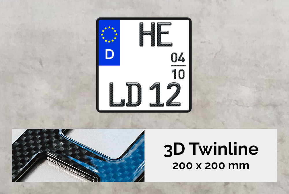 3D TWINLINE Saison in Carbon-Optik 200 x 200